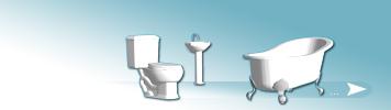 Puppenhaus Bad und Dusche Sets
