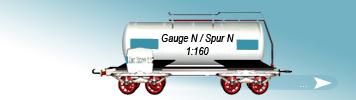 N Gauge, 1to160