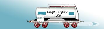 Spur Z , 1zu220
