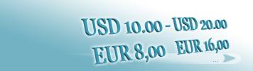 Artikel zum Preis von 8,00 - 16,00 EUR