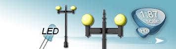 LED 2 Light Sources Lamp for HO Gauge