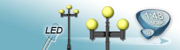LED Dreiflammige Laterne für Spur 0