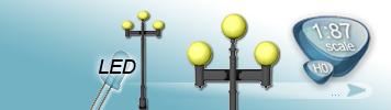 LED 3 Light Sources Lamp for HO Gauge