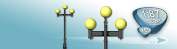 3 Light Sources Lamps for HO Gauge