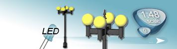 LED Vierflammige Laterne für Spur 0