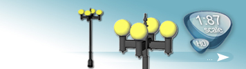 4 Light Sources Lamps for HO Gauge