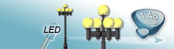 LED Fünfflammige Laterne für Spur 0