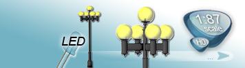 LED 5 Light Sources Lamp for HO Gauge