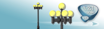 5 Light Sources Lamps for HO Gauge