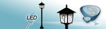 LED Gartenlaternen für Spur 0