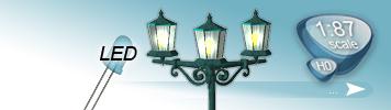 LED Laternen für Spur H0