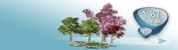 Trees for HO Gauge