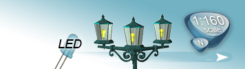 LED Lampen & Laternen für Spur N