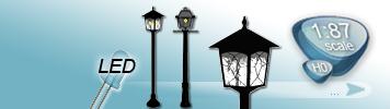 LED Garden Lights for HO Gauge