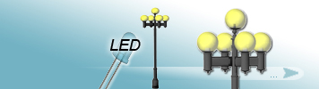 5 LED Light Sources Lamp