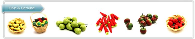 Miniatur Obst und Gemüse aus Polymer Ton