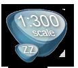 Scale 1:300, 1to300, ZZ