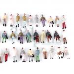1:160 scale figures, N gauge figures, miniature plastic figures, painted N scaled figures