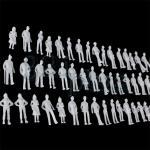 Spur N Figuren, 1:160 Figuren, unbemalte Plastik Figuren, weiße Spur N Figuren