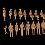 Modellbau Figuren 1:32, sitzende & stehende Figuren, Spur 1 Zubehör aus Kunststoff