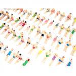 1:50 Figuren, Miniatur Stranbesucher aus Plastik, Modellbau Menschen für die Spur O
