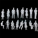 1:50 scale figures, 1:50 figures, plastic miniatures at scale 1:50, unpainted model people