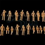 1:50 scale people, 1/50 figure, unpainted plastic figures, 37mm high figures