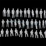 Spur 00 Figuren, 1:76 Maßstabszubehör, Miniaturfiguren aus Plastik, Modellbau Menschen
