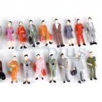 Modellbau Figuren 1:87, stehende H0 figuren aus Plastik, H0 Modellbahn Zubehör im Maßstab