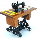 dollhouse sewing machine and dolls house sewing machine table