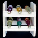 miniature wine bottles, miniature bottles of wine, wooden mini rack