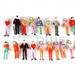 O scale people figures, passenger miniatures, 1/48 scaled people, O gauge supplies