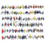 HO figures people, HO passengers, 1:87 scaled miniatures, people miniature figures