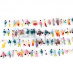 Z scale people, 1/200 figures, plastic miniature figures, Z gauge figures, Z scaled figure