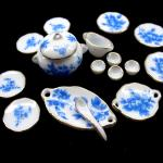 miniature ceramic pots, miniature porcelain plates