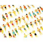 TT Figuren, Strandfiguren aus Plastik, 1:120 Zubehör für Spur TT, Modellbaufiguren für TT