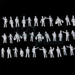 Z scale people, Z scale figures, plastic miniature figures for Z gauge, unpainted Z scale