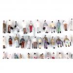 Z scale people, 10mm figures, standing miniature figures, people for Z gauge
