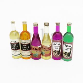 Miniatur Flaschen für Miniatur Bar und Puppenstube Küche
