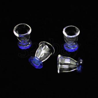 Puppenhaus Geschirr | Miniaturgläser blau-weiß für Ihre Bastelideen