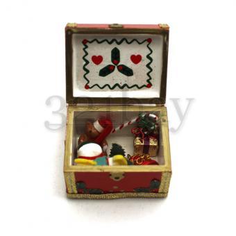 Adventskalender basteln und Weihnachtsdeko basteln mit Miniatur Spielz