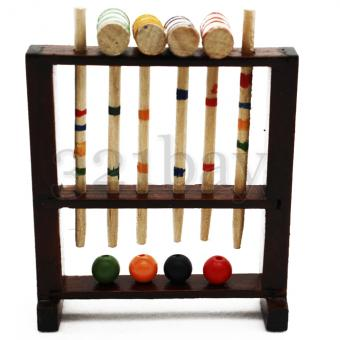 Miniature Croquet Set | Wooden Dollhouse Accessories