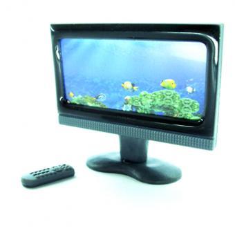 Miniature TV Sets for Dollhouse Living Room