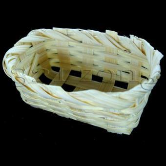 Miniatur Korb für Deko Obst | Miniatur Marktstand Zubehör
