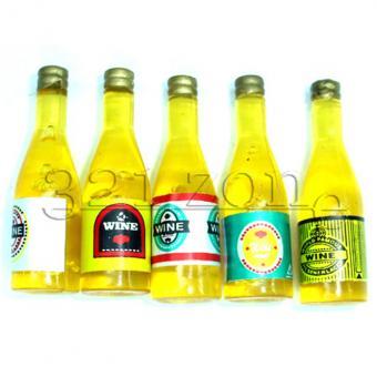 Miniature Wine Cellar or Dollhouse Bar Wine Bottles