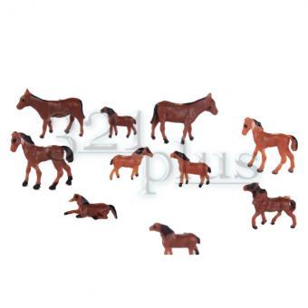Bemalte Spur N Pferde | Modellbau Plastik