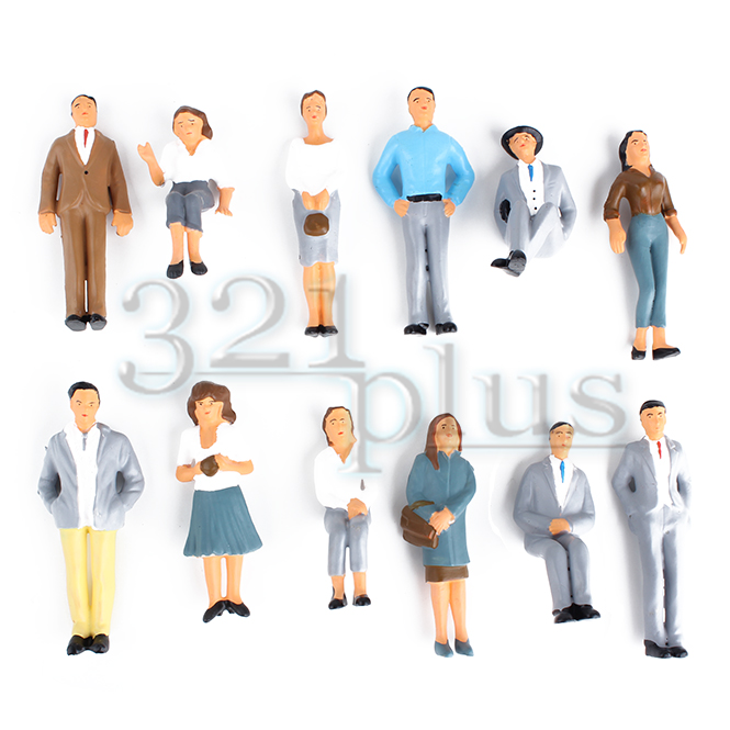 1:24 Scale Figures People | Painted Set of 12pcs.