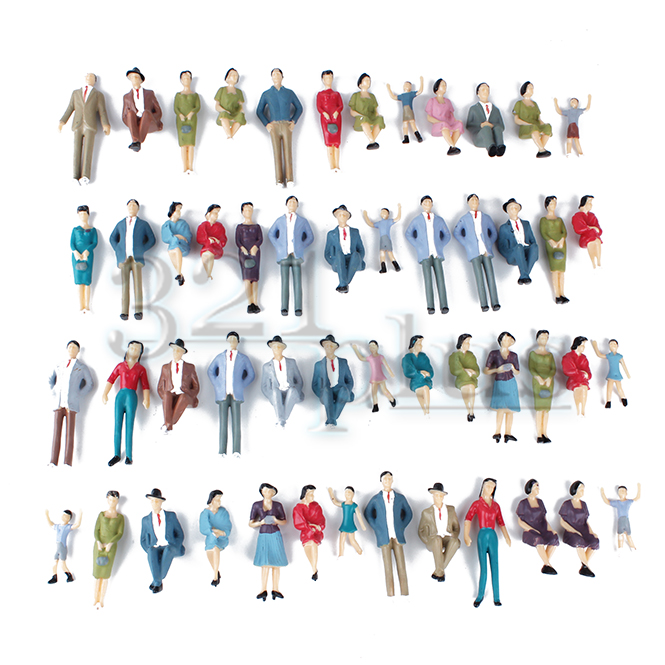 50 pcs. Scale Plastic Models | 1:32 People