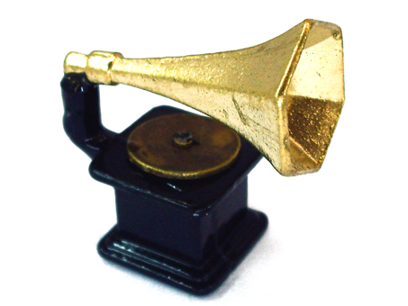 Mini gramophone for dollhouse living room