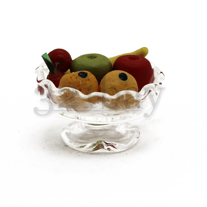 Miniature Bowl filled with Polymer Clay Food Miniatures